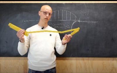 Challenge voor thuis: kun je een brug bouwen van papier?